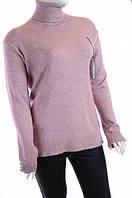 Женская кофта с воротником хомут Q187 Розовый, 54
