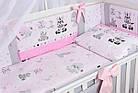Комплект постельного белья Asik Зебры и жирафы серо-розового цвета 8 предметов (8-304), фото 2