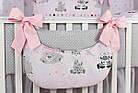 Комплект постельного белья Asik Зебры и жирафы серо-розового цвета 8 предметов (8-304), фото 5