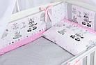 Комплект постельного белья Asik Зебры и жирафы серо-розового цвета 8 предметов (8-304), фото 3
