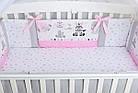 Комплект постельного белья Asik Зебры и жирафы серо-розового цвета 8 предметов (8-304), фото 6
