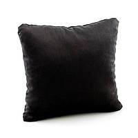Подушка декоративная квадратная, черный флок_склад, фото 1