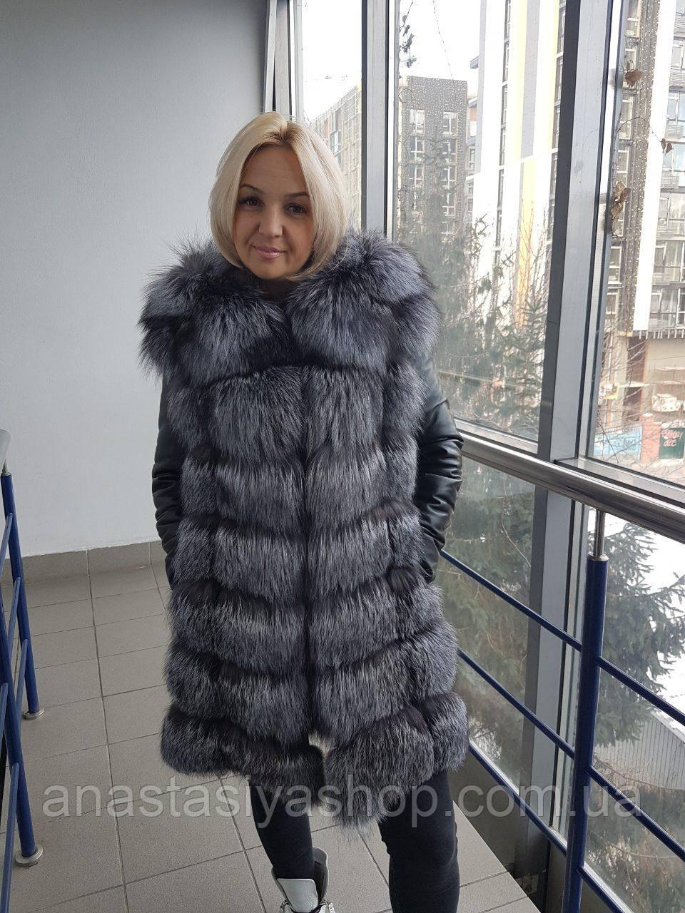 Куртка трансформер с мехом чернобуркии