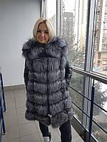 Куртка трансформер с мехом чернобуркии  , фото 1