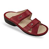 OrtoMed 3702 Красные, Липучка - Женские ортопедические босоножки для проблемных ног