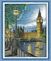 Лондон Набор для вышивки крестом с печатью на ткани 14ст