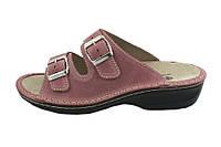 OrtoMed 3718 Розовые, Пряжка - Женские ортопедические босоножки для проблемных ног