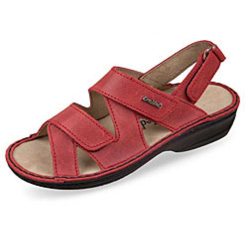 OrtoMed 3705 Червоні, Липучка - Жіночі ортопедичні сандалі для проблемних ніг