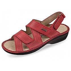 OrtoMed 3705 Красные, Липучка - Женские ортопедические  сандалии для проблемных ног