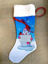 ЧХ-15. Пошитий новорічний чобіток з хутром, під вишивку