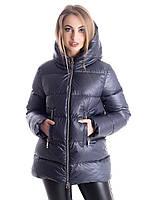 Куртка- пуховик женский Irvik Z33181 темно серый, фото 1