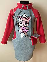 Платье/туника для девочки с нашивкой Лол 3-6 лет, фото 1