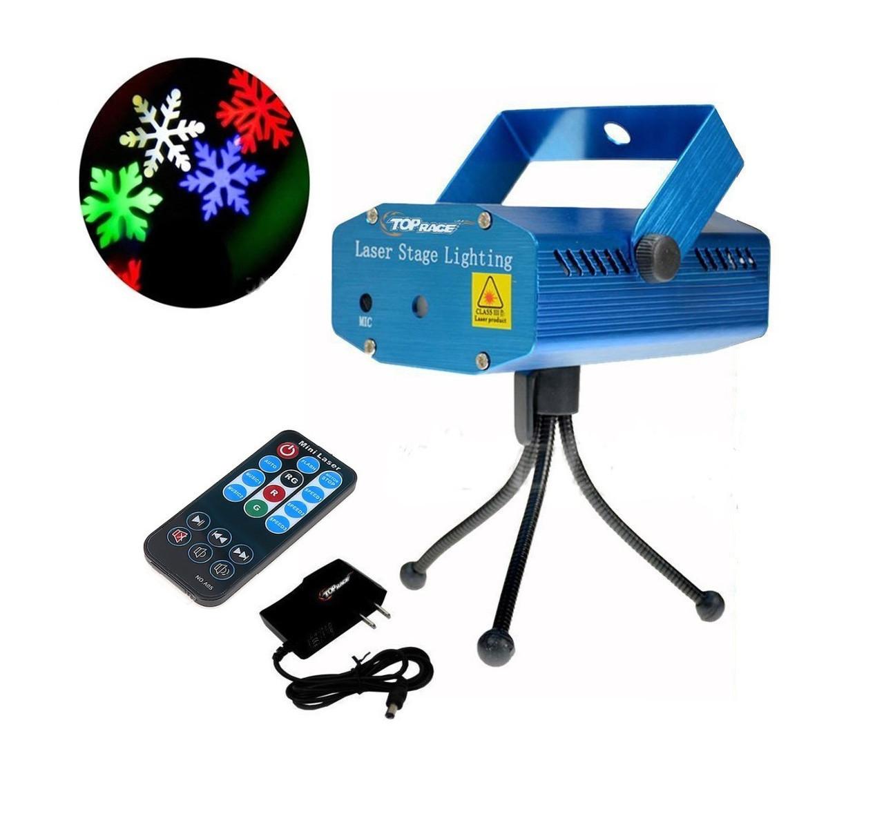 Лазерный проектор с рождественскими узорами