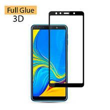 Защитное стекло Optima 3D Full Glue для Samsung A750 A7 2018 Black