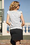 Белая женская блуза с аппликацией, фото 3