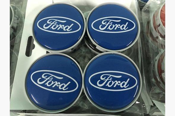 Колпачки в титановые диски 55 мм V5 (4 шт) - Ford B-Max 2012+ гг. / Ford C-Max 2004-2010 гг.