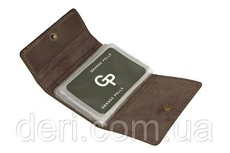 Визитница на 24 карты, глянцевый, коричневый, фото 2