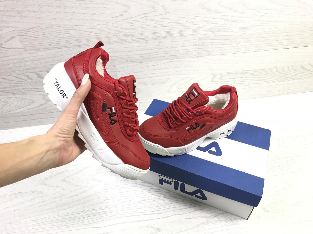 5f4a393ec Зимние женские кроссовки Fila Yalor красные / кроссовки женские зимние Фила  - ALL-IN в
