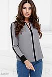 Сіро-чорна шифонова блуза великих розмірів, фото 2