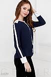 Сине-белая шифоновая блуза, фото 2