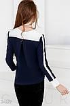 Сине-белая шифоновая блуза, фото 3