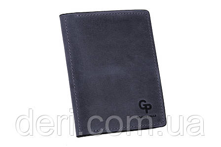 Обкладинка для паспорта, синя, фото 2