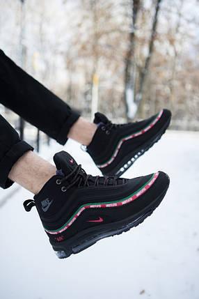 Ботинки на меху мужские Nike Air Max Андефитед черные топ реплика, фото 2
