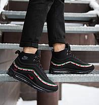 Ботинки на меху мужские Nike Air Max Андефитед черные топ реплика, фото 3