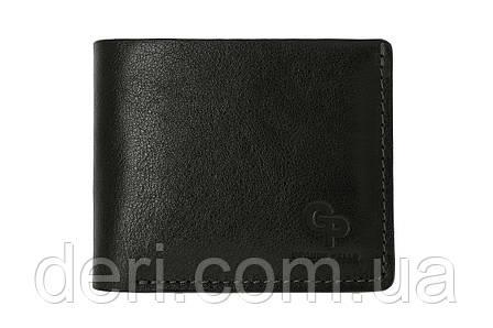 Кожаный портмоне, черный, фото 2