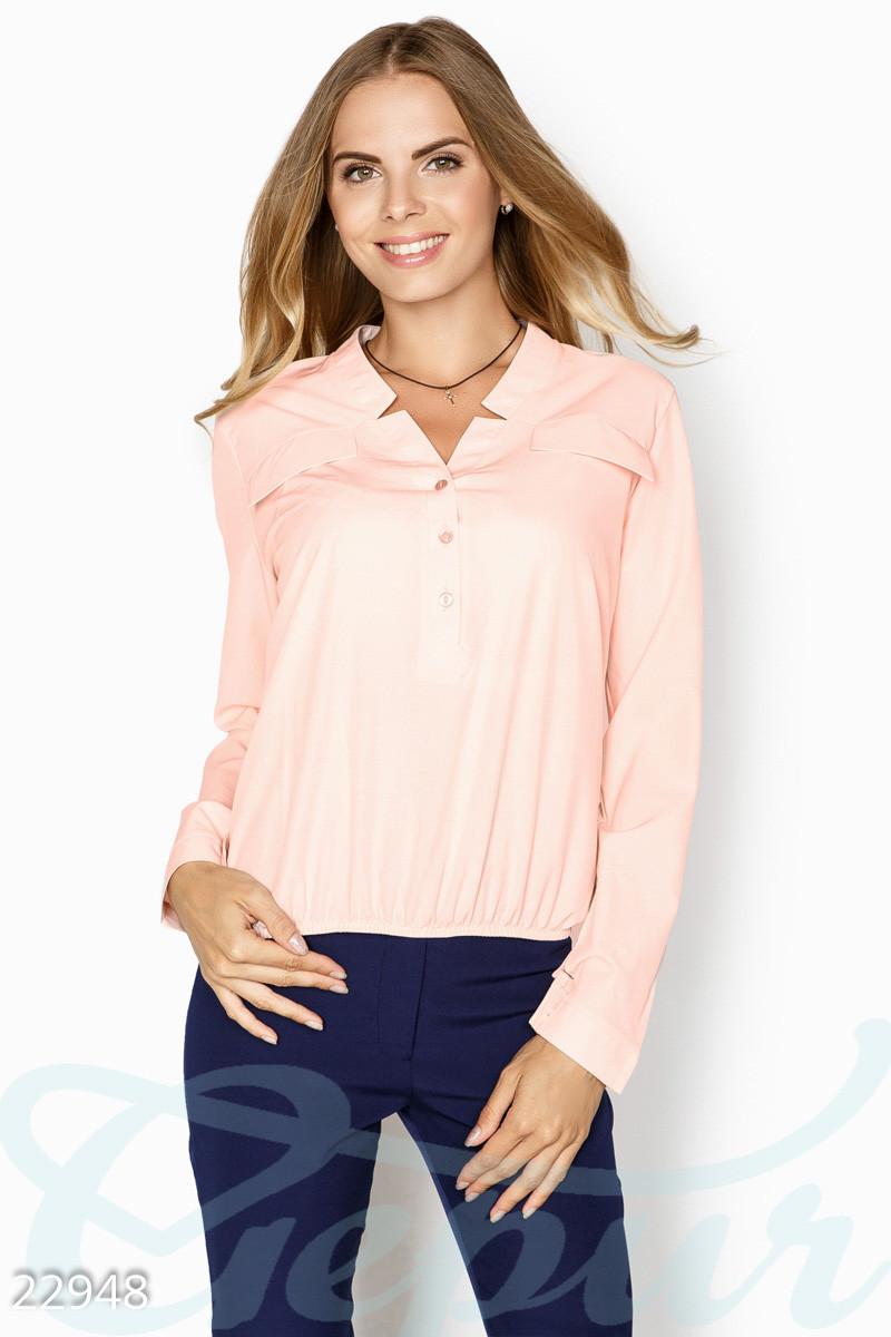 Розовая блуза свободного кроя больших размеров