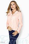 Розовая блуза свободного кроя больших размеров, фото 2