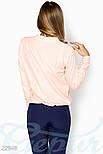 Розовая блуза свободного кроя больших размеров, фото 3