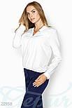 Белая блуза свободного кроя больших размеров, фото 2