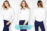 Белая блуза свободного кроя больших размеров, фото 4