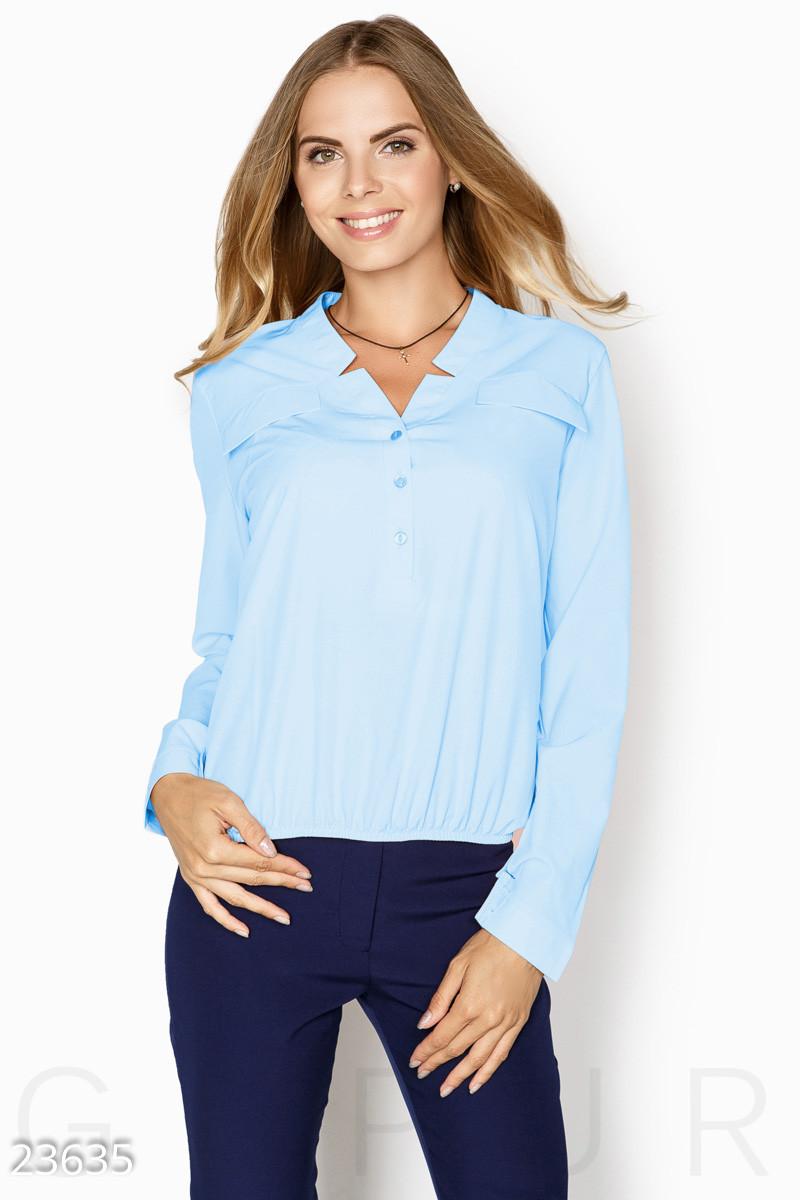 37d742a45d2 Голубая блуза свободного кроя больших размеров - LeButon в Одессе