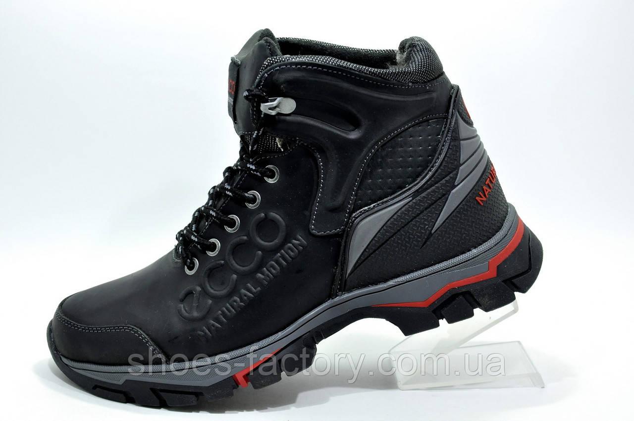 Зимние ботинки в стиле Ecco, на меху