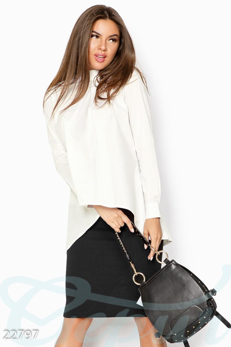 Ассиметричная блуза белого цвета