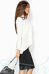 Ассиметричная блуза белого цвета, фото 2