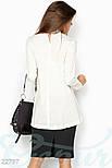 Ассиметричная блуза белого цвета, фото 3