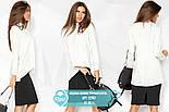Ассиметричная блуза белого цвета, фото 4