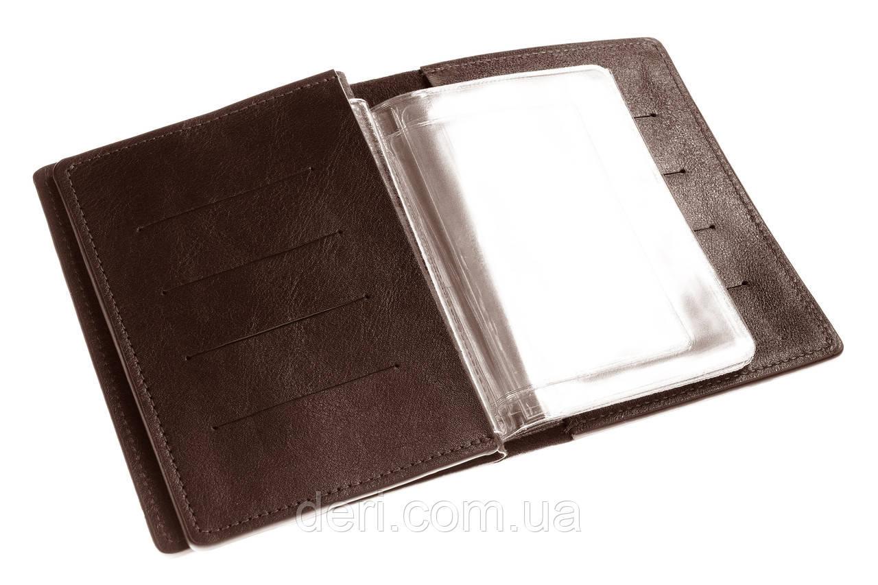 Обложка для документов, паспорта, автодокументов с отделом для карт
