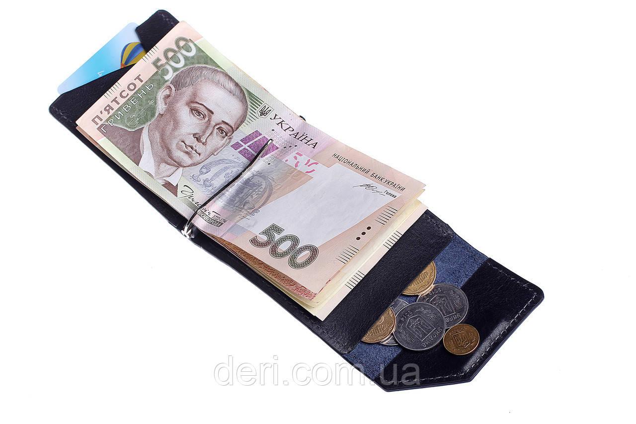Зажим для денег  глянец, синий
