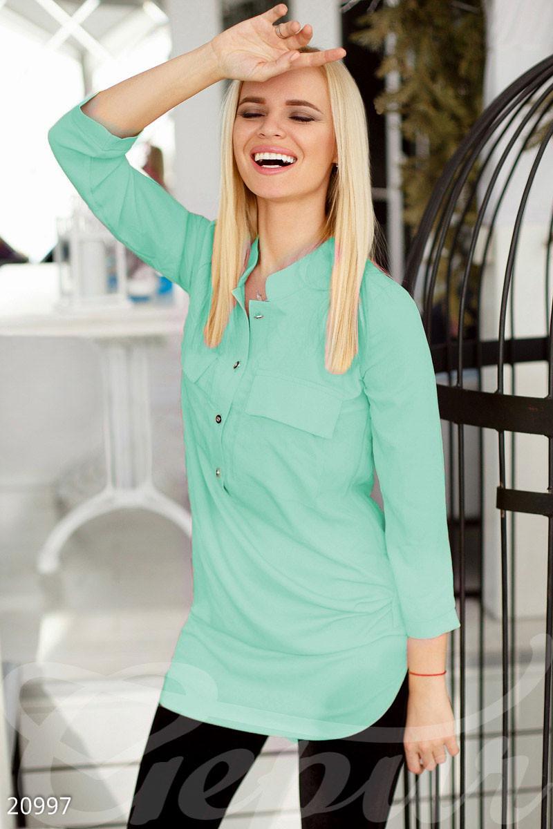 Стильная женская блуза мятного цвета