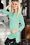 Стильная женская блуза мятного цвета, фото 2