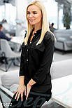 Стильная женская блуза черного цвета, фото 2
