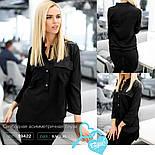 Стильная женская блуза черного цвета, фото 4