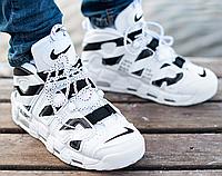 Мужские Кроссовки Nike Air More Uptempo Евро Зима, найк аир мор белые, реплика
