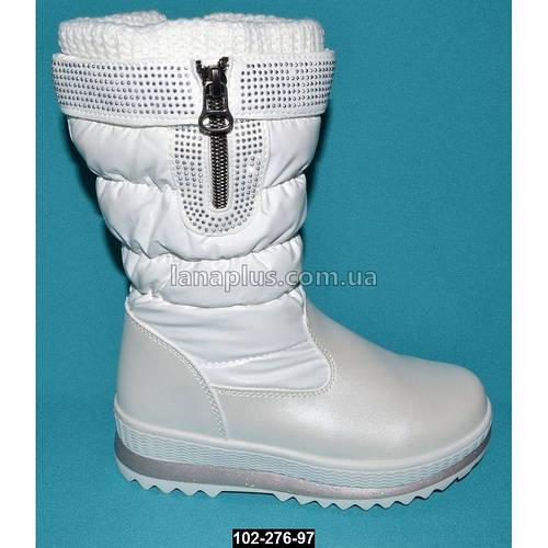 Зимние сапоги для девочки, 27 размер (17.5 см), непромокающие дутики на меху