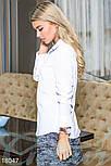 Стильная классическая белая блуза, фото 2