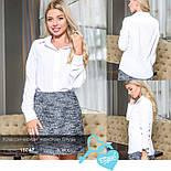 Стильная классическая белая блуза, фото 4